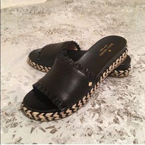 "Kate Spade ""Zahara"" Leather Slide Sandals NWOT"